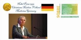 Spain 2013 - Nobel Prize 1995 Medicine - Christiane Nüslein-Volhard/Germany Special Prepaid Cover - Nobelpreisträger