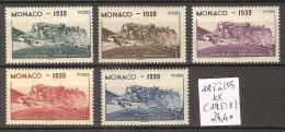 Monaco 195 à 199 ** Côte 24.40 € ( 195 : * ) - Mónaco