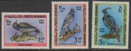 Afghanistan 1965 Set Of 3 Stamps Birds Vogel Oiseaux ** MNH