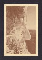 SOUTH DAKOTA BLACK HILLS MOUNT RUSHMORE MEMORIAL -  DANGLING BY A NOSE GUTZON BORGIUM SWING IN A BOSUN'S CHAIR - Mount Rushmore