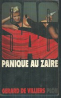 """SAS   """" PANIQUE AU ZAÏRE """" N° 52 - GERARD DE VILLIERS - PLON - SAS"""