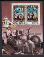 Korea, North MNH Scott #1985a Sheet Of 2: Johannes Kepler, 350th Anniversary Of Death - Corée Du Nord