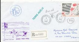 E 277 / TAAF  SUR  LETTRE RECOMMANDEE -DUMONT D'URVILLE T. ADELIE   -1987- - Lettres & Documents