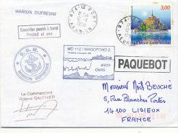 E 317/ TAAF  SUR  LETTRE   - C G M . MARION DUFRESNE 1998 - Terres Australes Et Antarctiques Françaises (TAAF)