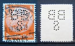 Dt. Reich Marke - Perfin - Firmenlochung - Gestempelt            (K245) - Gebraucht
