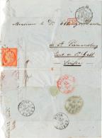 LSC - N°5  Obl. Roulette De Points + Cachet 2e Route 15 (Pothion 1350) / Suisse 21 Avril 1853 - 1849-1850 Cérès