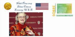 Spain 2013 - Nobel Prize 2009 Economy  - Elinor Ostrom/United States Special Prepaid Cover - Nobelpreisträger