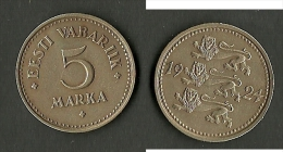 ESTLAND Estonia Estonie 1924 - 5 Marka - Estland