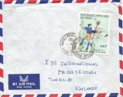 Congo 1990 Brazzaville World Cup Football Soccer Italia 240f Cover - Copa Mundial