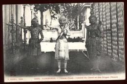 Cpa Asie Cambodge Phnom Penh Combat Du Géant Et Des Singes (danse)      A2