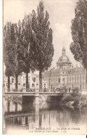 Bar Le Duc (Meuse)-1916-Les Bords De L'Ornain Et Le Clocher De Notre Dame-Attelage Et Animation Sur Le Pont - Bar Le Duc