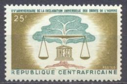 Centrafricaine Rép. YT N°35 Déclaration Universelle Des Droits De L'homme Neuf ** - Centrafricaine (République)
