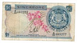 1 Dollar , VF. - Singapore