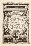 Milano, - Esposizioni Riunite - Expo 1894 Cartolina Depliant Cartolina Pubblicitaria - Exhibitions