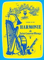 AUTOCOLLANT FONDEE EN 1892 HARMONIE DE SAINT-LAURENT-BLANGY - Autocollants