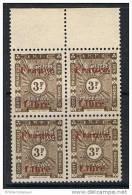 COTE DES SOMALIS  TAXE N°38 N** En Bloc De 4  Bord De Feuille FRANCE LIBRE - Côte Française Des Somalis (1894-1967)