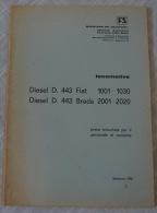 FERROVIE DELLO STATO RAILWAY ITALIAN LOCOMOTIVE DIESEL D. 443 FIAT E BREDA BREVE ISTRUZIONE PER PERSONALE 1975 - Unclassified