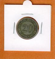 Monnaie.20 Pfennig 1892 A. - [ 2] 1871-1918 : German Empire
