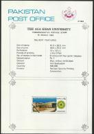 Architecture Building Education Onderwijs Educational Institute Aga Khan University Art Paper Brochure Pakistan 1983 - Pakistan