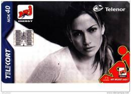 Y] Télécarte Phonecard Norvège Norway Jennifer Lopez Chanteuse Singer (25.000 Ex.) NRJ - Personnages