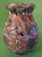 """Petit Vase Gerbino Typique, En Céramique """"mosaïquée"""", à Dominante Verte - Vallauris (FRA)"""
