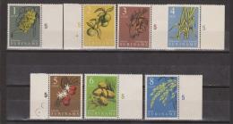 Suriname 354-360 + Randstrook MNH ; Inheemse Vruchten, Fruit, Fruta 1961 - Obst & Früchte