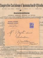 LETTRE COOPERATIVE CANTALIENNE D INSEMINATION ARTIFICIELLE AURILLAC 1963 P/REILHAC - 1953-1960