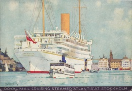 ATLANTIS At STOCKHOLM Kenneth SHOESMITH 5.5 X 3.5 Official Issue Postcard - Piroscafi
