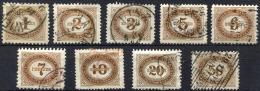 AUSTRIA 1894-95 Unwmk (one With Wmk) - Yv.Taxe 1-9 (Mi.Porto 1-9, Sc.J1-9) 1st Selection (perfect) VF - Postage Due