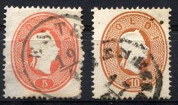 LOMBARDY-VENETIA 1861-62 Perf.14 - Yv.16-17 (Mi.12-13, Sc.13-14) Used (perfect) VF - Lombardo-Veneto