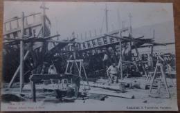 Ostende - Oostende - Barques De Pêche En Construction - Animée TTB - Oostende