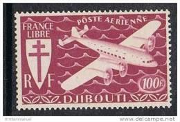 COTE DES SOMALIS AERIEN N°7 N** - Côte Française Des Somalis (1894-1967)