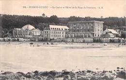 22 PERROS GUIREC LE CASINO ET L HOTEL DE LA PLAGE DE TRESTRAOU - Perros-Guirec