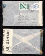 Argentina 1943 Censor Airmail Cover Via Lisboa To Stuttgart Germany - Argentina