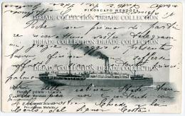 CARTOLINA PIROSCAFO MENDOZA LLOYD ITALIANA SOCIETà DI NAVIGAZIONE GENOVA NAPOLI - Dampfer