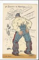 Lot De 8 CPA MILITARIA Humoristiques Illustrées Par Louis Ferdinand Malespine : Exercice De Manège , 1ere Sortie .... - Humoristiques
