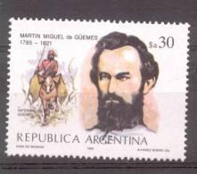 200 AÑOS DEL NACIMIENTO DEL GENERAL MARTIN MIGUEL DE GUEMES AÑO 1985 (1785-1821) OFFSET SIN FILIGRANA MNH TBE - Ohne Zuordnung