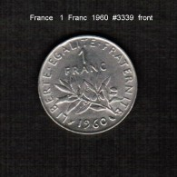FRANCE    1  FRANC  1960  (KM # 925.1) - France