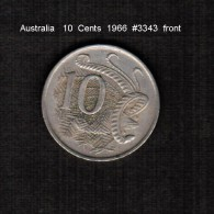 AUSTRALIA    10  CENTS  1966  (KM # 65) - Decimal Coinage (1966-...)