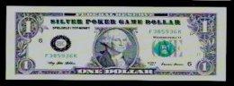"Spielgeld ""SILVER DOLLAR BK"" Testnote, 1 $, Training, Education, Play Money, 140 X 48 Mm, RRR, UNC, Billet Scolaire - Sonstige"