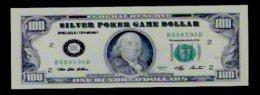 "Spielgeld ""SILVER DOLLAR BK"" Testnote, 100 $, Training, Education, Play Money, 140 X 48 Mm, RRR, UNC, Billet Scolaire - Sonstige"