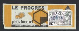 EB097 - Loterie Nationale - LE PROGRES - Province N°1 - 1973 - Billets De Loterie