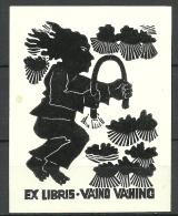 Estland Estonia Estonie Ex Libris VÄINO VAHING - Bookplates