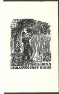 Estland Estonia Estonie Ex Libris 1987 Pärnumaa Laulupäev In Uulu - Ex Libris