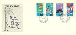 Commission Du Pacifique Sud, Etats Membres (éradication Des Oryctes Du Cocotier) . FDC 1972 - Tokelau