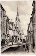 Montargis, La Rue De Loing Et L'église - Montargis