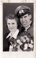 WK II, Liebespaar, Gedenken An Unsere Hochzeit, Fotokarte St.Pölten 1943 - Rotes Kreuz