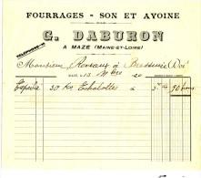 MAZE. - G. DABURON. - FOURRAGES - SON ET AVOINE - Agriculture