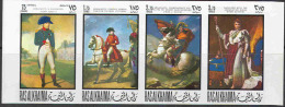 1282 ✅ Art Painting Napoleon War 1969 Ras Al Khaima 4v Set MNH Imperf Imp ** 6ME - Napoleón