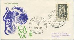ITALIA - FDC  VENETIA 1972 - CANOVA - VIAGGIATA PER ROMA - 6. 1946-.. Repubblica